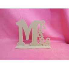 4mm MDF Standing MR and MRS Plaque 150mm tall